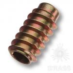 Втулка М8 х 30 мм с шестигранным отверстием, сталь, цвет жёлтый цинк, 12.10.176-0
