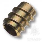 Втулка М6 х 13,5 мм с шестигранным отверстием, цамак, цвет жёлтый цинк, 12.10.460-0