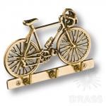 "Вешалка ""Велосипед"" на 3 крючка, латунь, 2.249"