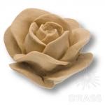 Ручка кнопка в форме розы, смола, ручная работа, без покрытия, RE 01