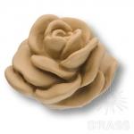 Ручка кнопка в форме розы, смола, ручная работа, без покрытия, RE 02