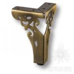 Опора мебельная резная, античная бронза, KAX-4626-0110-A08