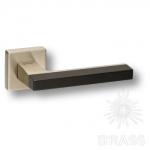 HA104RO11 AL6-NB\AL6 AZUR Ручка дверная, чёрный/матовый никель