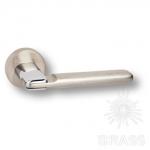 HA108RO11 NB-CR\NB ONIKS Ручка дверная, никель/глянцевый хром