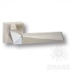 HA111RO11 NB-PN\NB AGATE Ручка дверная, никель/глянцевый никель/никель