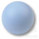 Ручка кнопка детская коллекция , выполнена в форме шара, цвет голубой матовый, 445AZ1