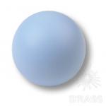 Ручка кнопка детская коллекция , выполнена в форме шара, цвет голубой матовый, 445AZ2