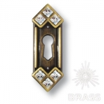 Ключевина декоративная со Swarovski, старая бронза, 15.608.10.SWA.04