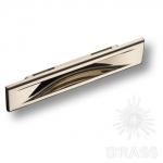 Ручка врезная современная классика, глянцевый никель 96 мм, 4340 0096 PN