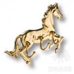 """Вешалка для одежды """"Лошадь"""", латунь, 3.815"""