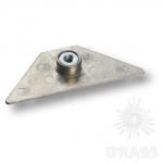 11.07.016-0 Втулка KEA с треугольным основанием, M10, цамак