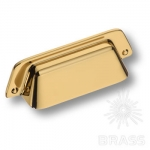 Ручка раковина современная классика, глянцевое золото 64 мм 4529 0064 GL