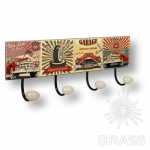 Вешалка декоративная MOTOR ROAD, автомобили, металл/фарфор, 9063N18