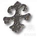 Swarovski elements Декоративная накладка Valentina, цвет тёмно-серый, 702810-001SSHA Swarovski elements