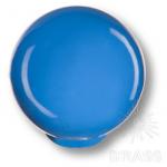 Ручка кнопка детская коллекция , выполнена в форме шара, цвет голубой глянцевый, 626AZM
