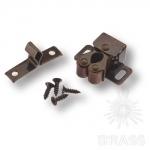 Двойная роликовая защёлка, сталь, цвет бронза, 22.01.500-0