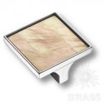 Ручка кнопка квадратная эксклюзивная коллекция, глянцевый хром 32 мм, 15.326.32 MP 05 07