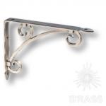Полкодержатель ( 1шт.) , цвет - античное серебро, 195 мм, LUXOR-B ARGENT