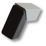 Ручка кнопка модерн, матовый хром с венге, KP8117B1.C/2B