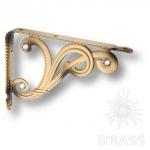 Полкодержатель ( 2шт.) цвет - античная латунь, 100 мм, VANITOSA -B SWA OTTONE ANT.