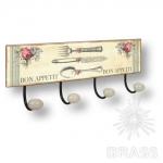 Вешалка декоративная BON APPETIT, металл/фарфор, 9063N03