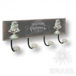 Вешалка декоративная PATISSERIE, металл/фарфор, 9063N14