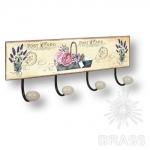 Вешалка декоративная JARDIN, металл/фарфор, 9063N05
