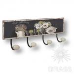 Вешалка декоративная POST CARD, металл/фарфор, 9063N11