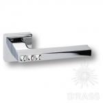 HA105RO11 CR AZURIT Ручка дверная с кристаллами Swarovski, цвет глянцевый хром