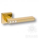 Ручка дверная с кристаллами Swarovski, цвет глянцевое золото, HA105RO11 GL AZURIT