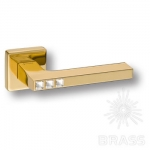 HA105RO11 GL AZURIT Ручка дверная с кристаллами Swarovski, цвет глянцевое золото