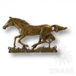 """Вешалка для одежды """"Лошадь"""", латунь, 131093"""